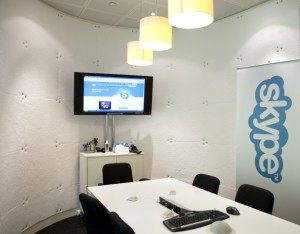 Sound insulated Skype meeting room
