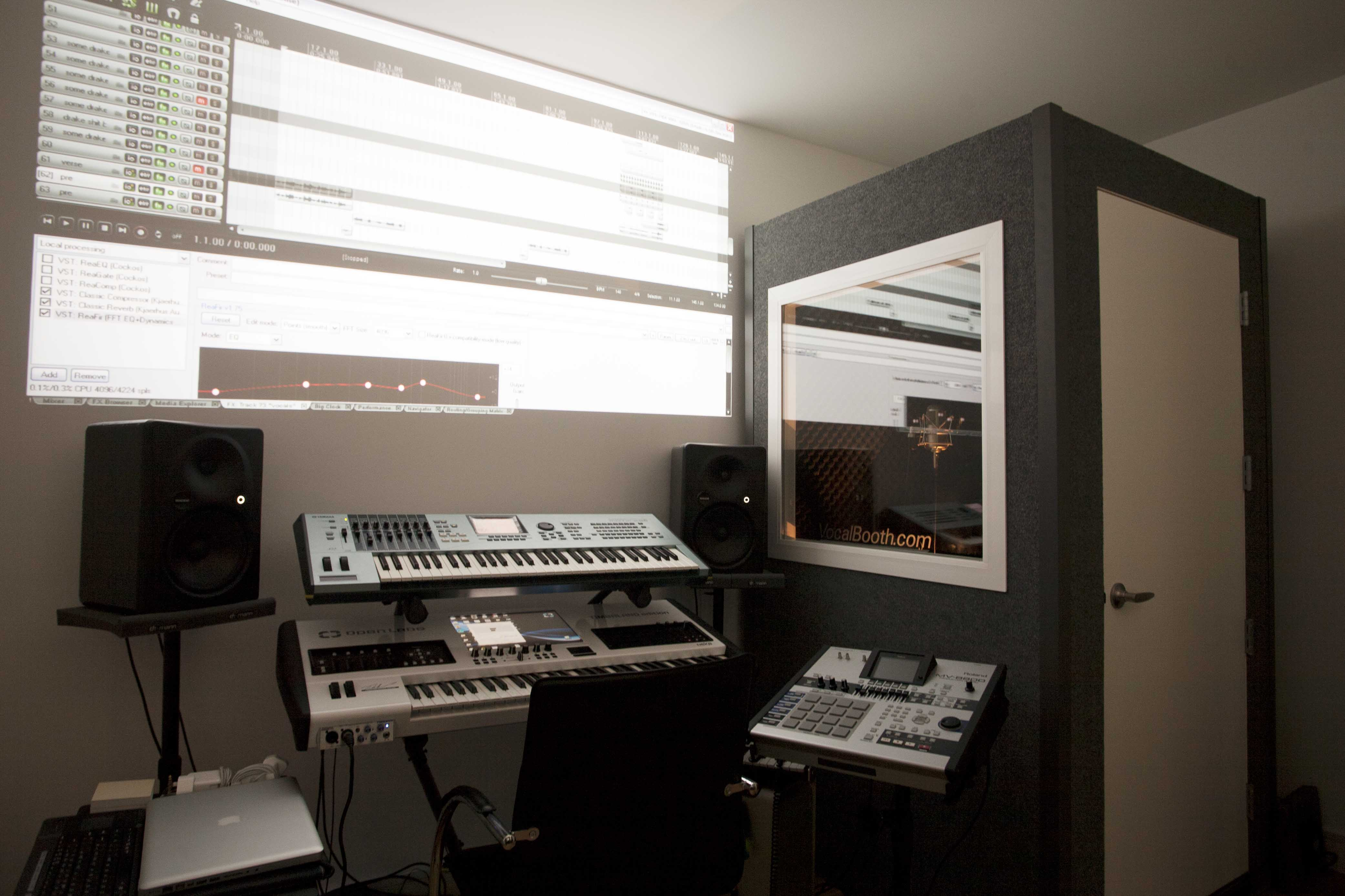 Domestic Recording Studio Room Within A