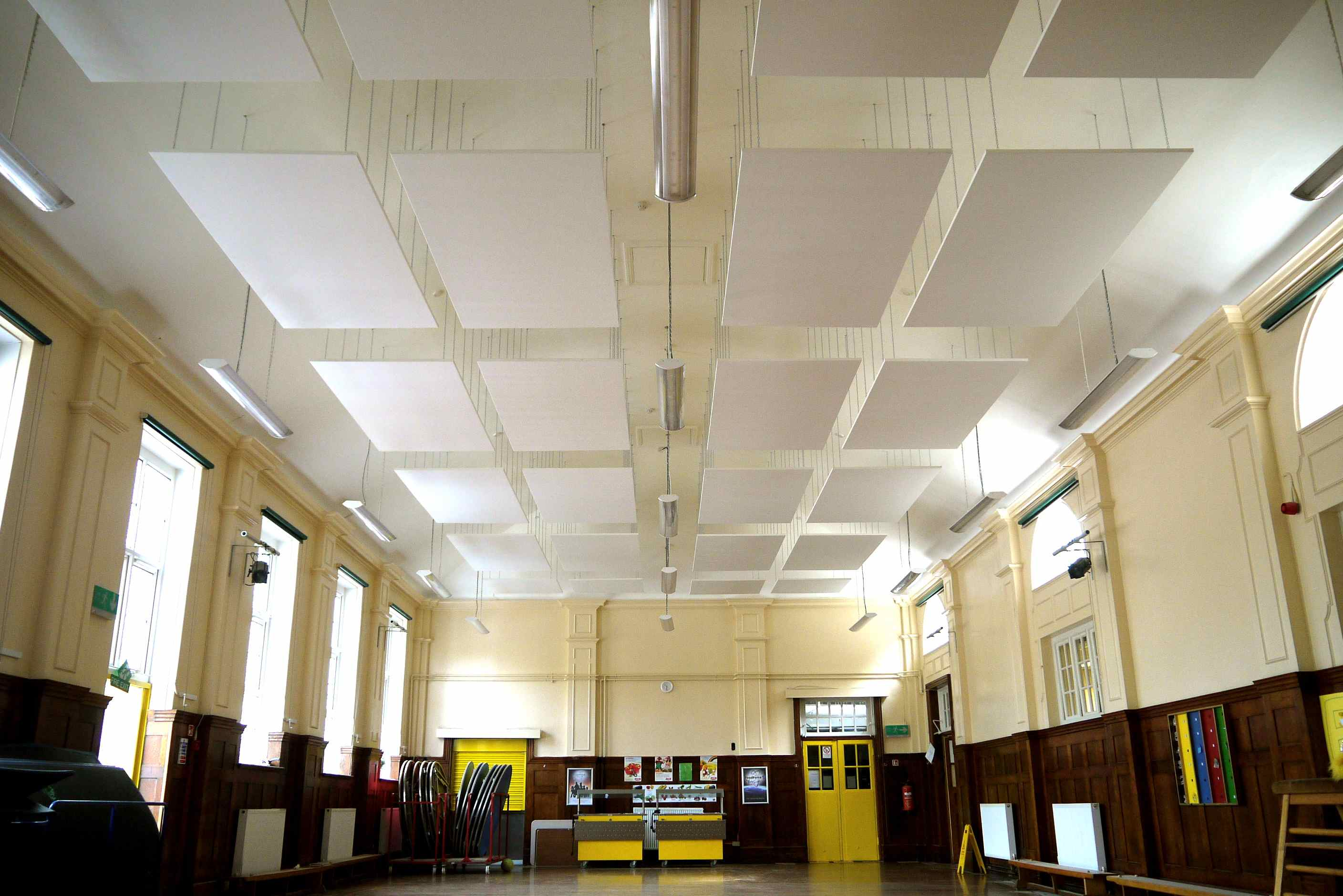 Acoustics In School Hall Reduce Reverberation Times