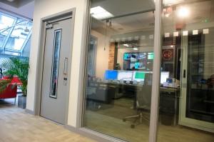 Glazed acoustic doors