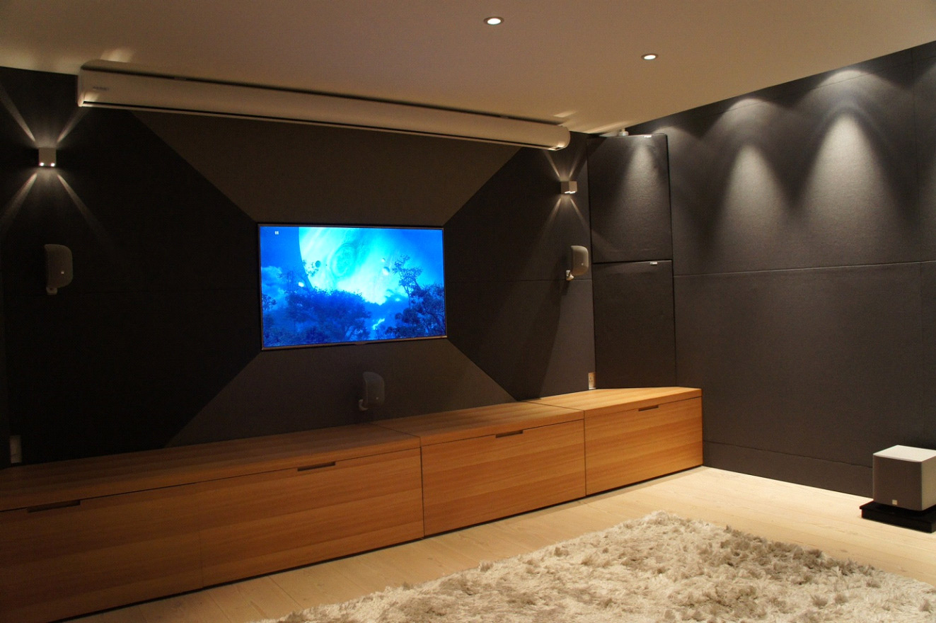 Domestic Cinema Acoustic Wall Mounted Panels Cinema