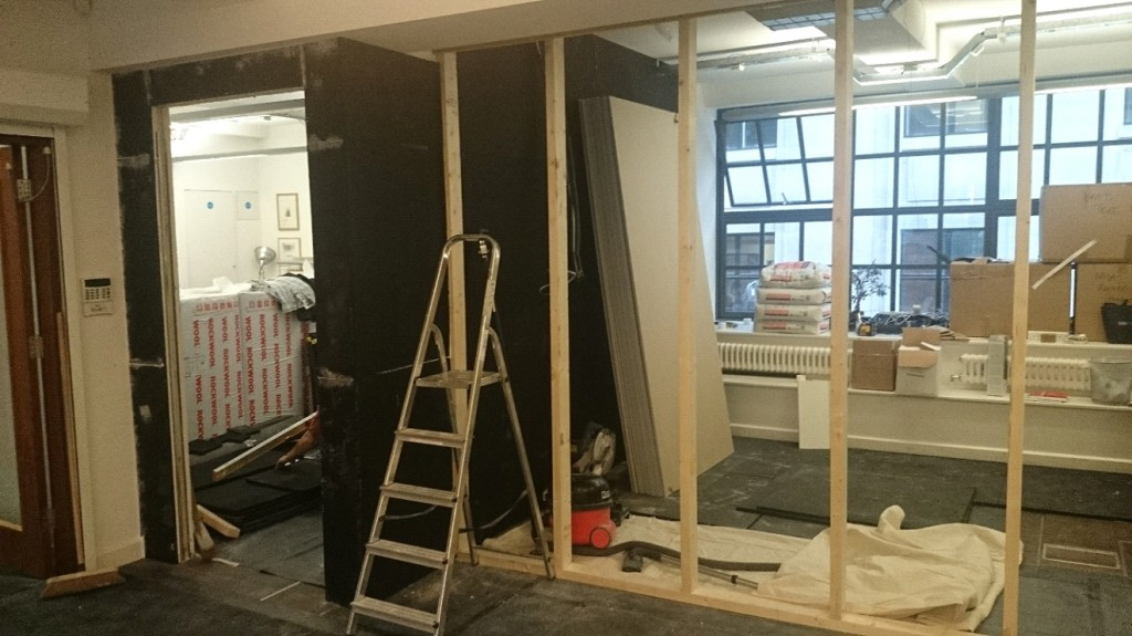 Installation of Sound Insulating Partitions