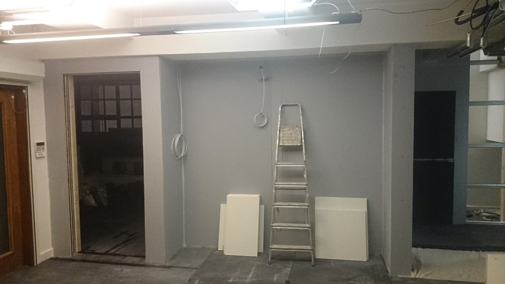 Soundproof Partition In Editing Suite