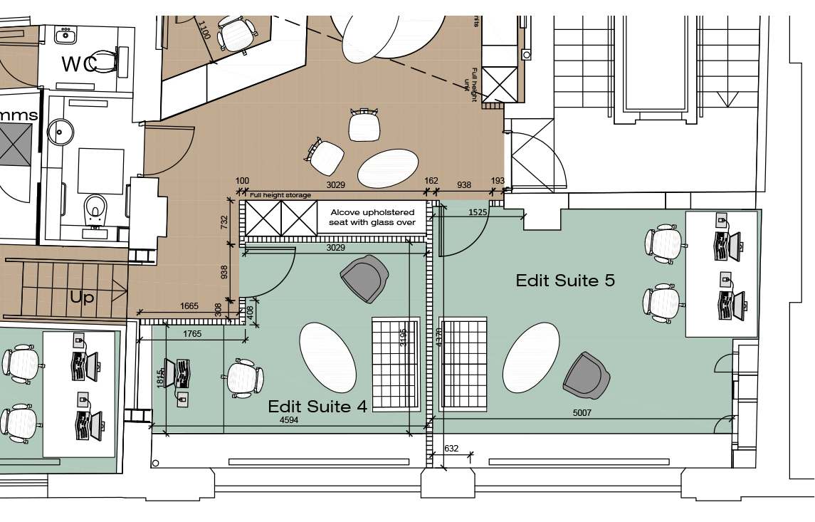 Acoustic Editing Suites Floorplan