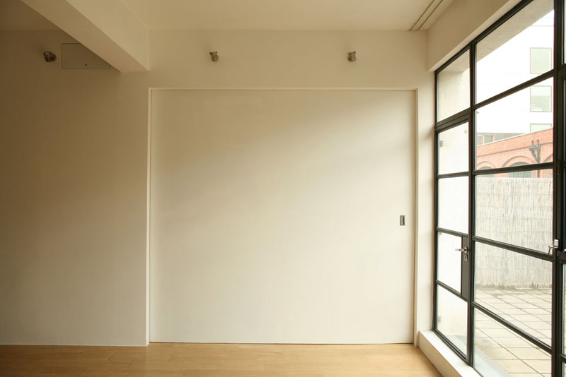 Acoustic Pocket Door In Open Plan Apartment