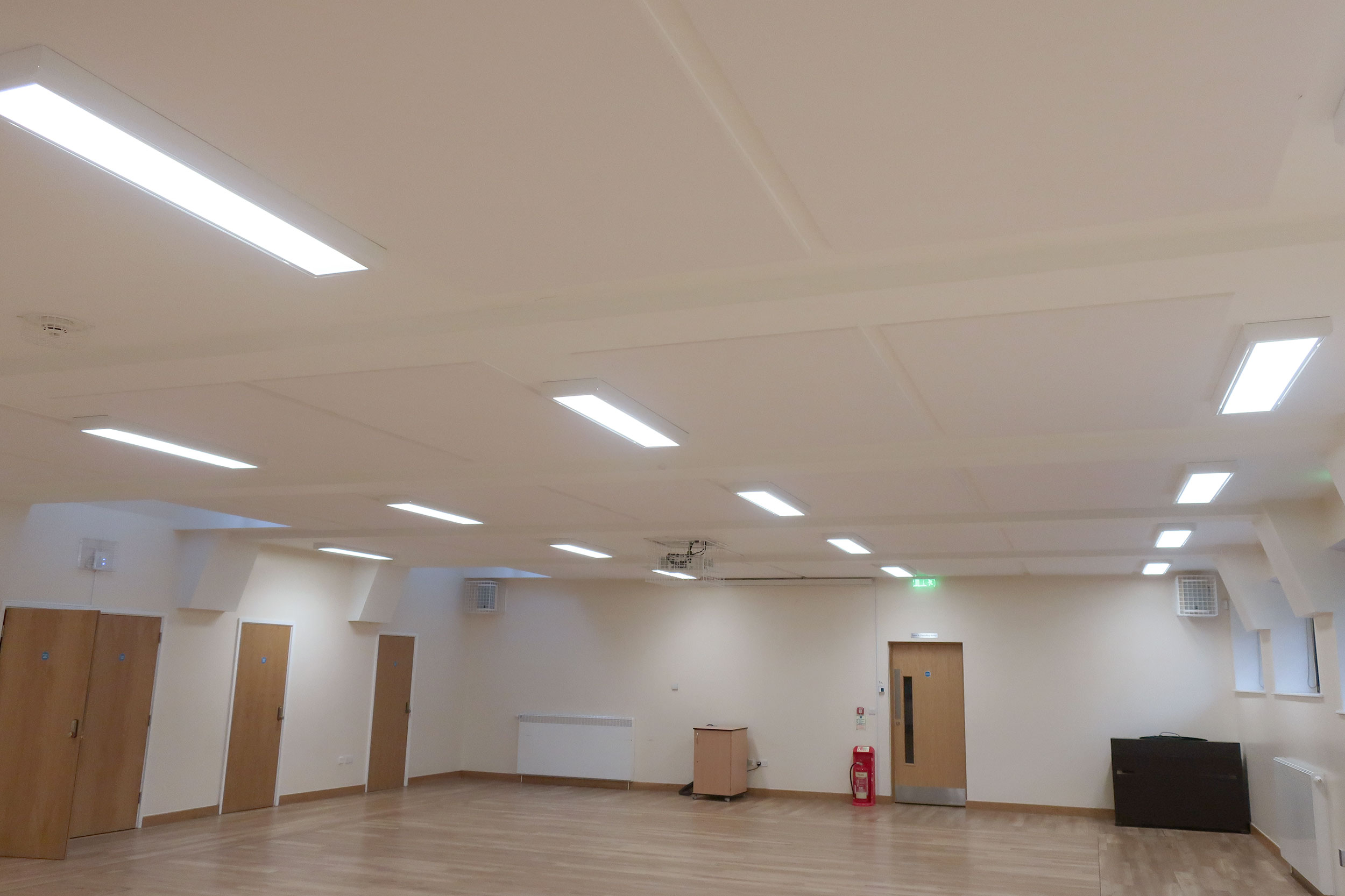 Sound Absorbing Panels In Church Hall