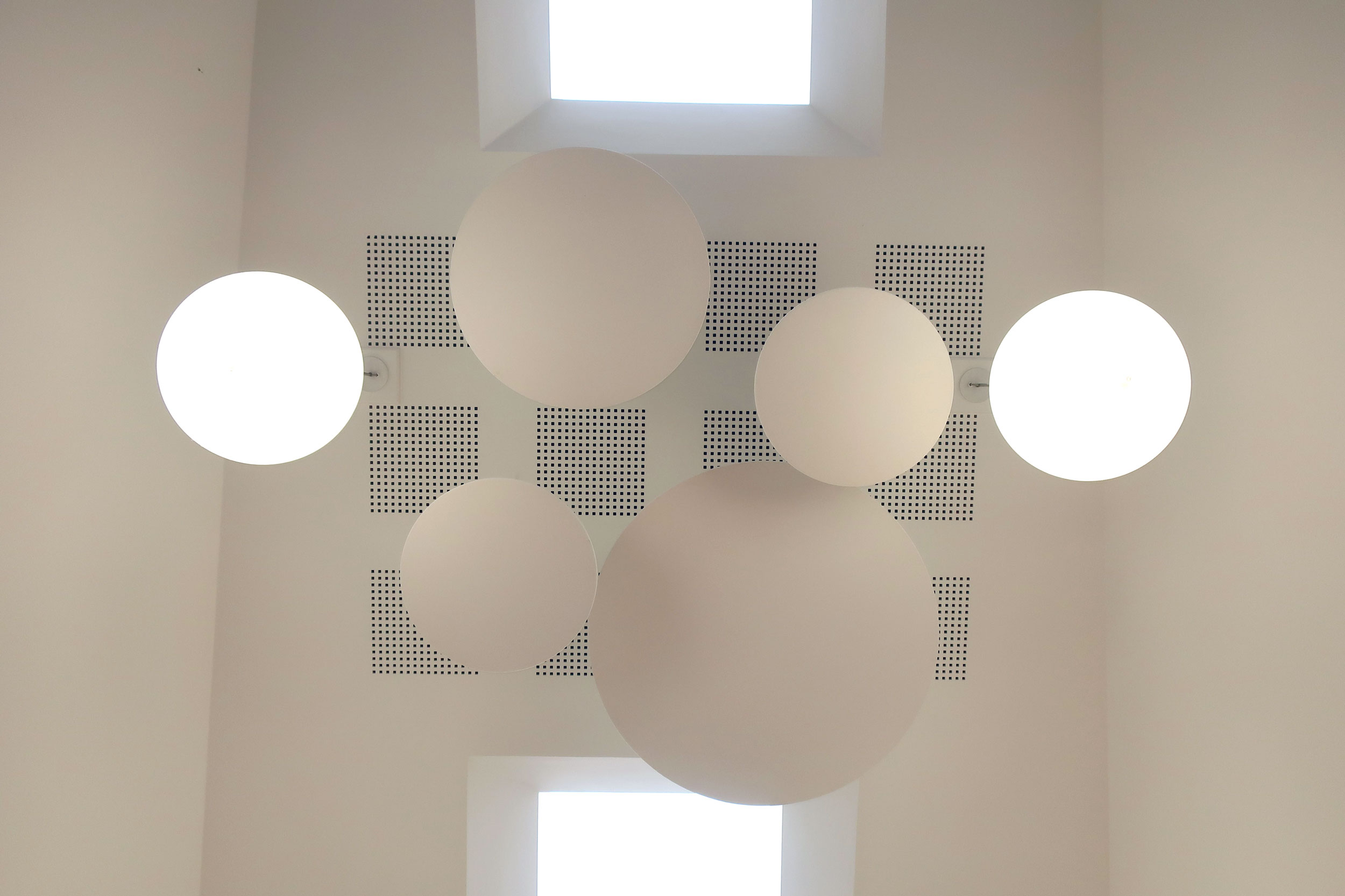 Circular Acoustic Ceiling Mounted Panels